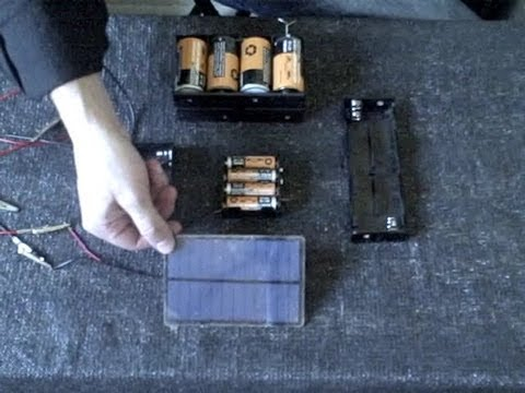 Homemade Battery Charger Solar Powered Fast Charge