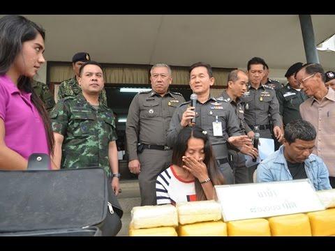 สังขละบุรีรวบสาวพม่าขบวนการค้ายาบ้าข้ามชาติรายใหญ่เครือข่ายชาวมาเลเซียมูลค่า 16 ล้านบาท