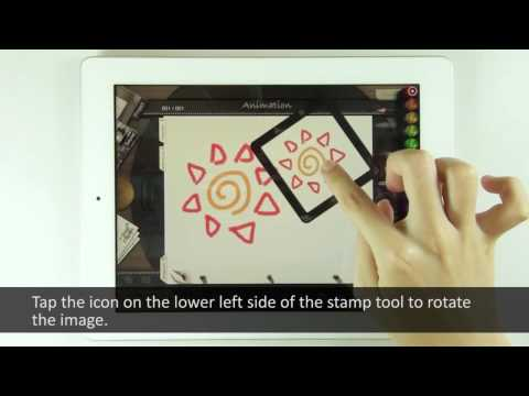 [Animation Desk ] iPad Tutorial: Stamp Tool part 1