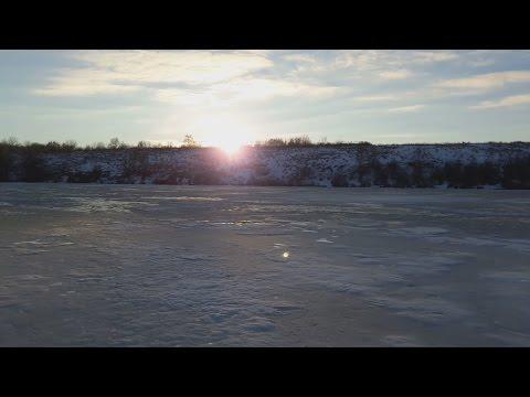 Ловля на жерлицы. Ловля окуня зимой. Первый лед 2016.