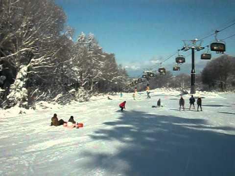 野沢温泉スキー場上ノ平ゲレンデ(上部) 2010/12/26