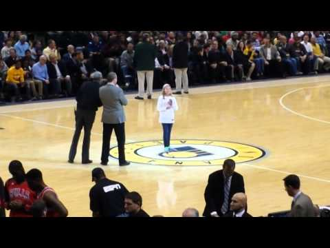 Indiana Pacers Honor Olivia Keith as an Indiana Hero