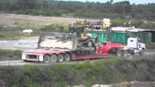 Moving  Caterpillar D-11 R Bulldozer With Lowboy