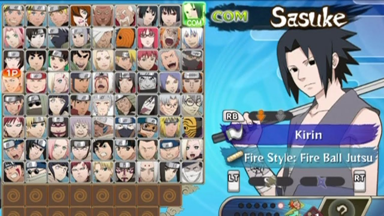 Naruto Ultimate Ninja Storm Generations  All Characters Unlocked  YouTube
