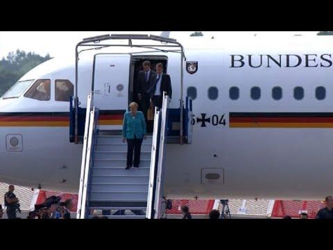 G7 arrivГe de la chanceliГЁre allemande Angela Merkel  AFP Images