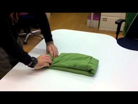 How To Fold A Packaway Jacket Youtube