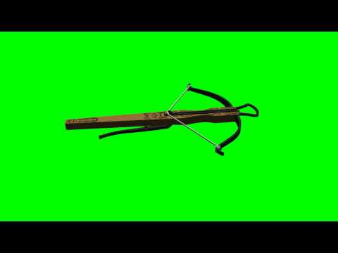 3D objects -  Medieval Crossbow - free green screen
