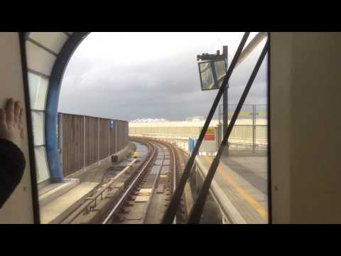 Riding the Docklands Light Railway in London (Trip to Europe)