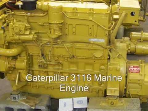 Caterpillar 3116 Marine Engine YouTube