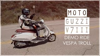 Moto Guzzi V7III & Vespa Trolling | First Ride Impressions