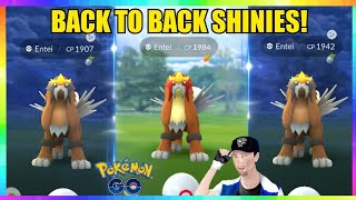 2x SHINY ENTEI CAUGHT BACK TO BACK & 100IV ENTEI CAUGHT in Pokemon Go! ( 17x Entei Raids )