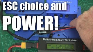 Does ESC choice affect motor power?