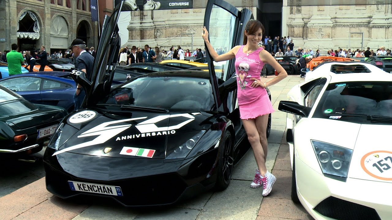 Lamborghini 50th Anniversary The Girls Cars And Owners