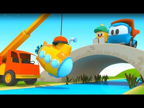 Грузовичок Лёва - машинки конструктор - Собираем подводную лодку - Развивающий мультик