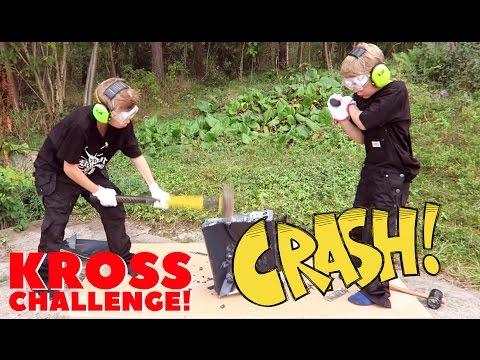 Challenge! | KROSSAR DATOR MED SLÄGGA! | Crash Brothers