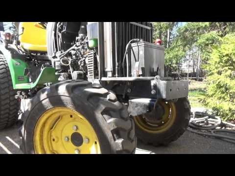 Changing the Deere 2032R to mow mode