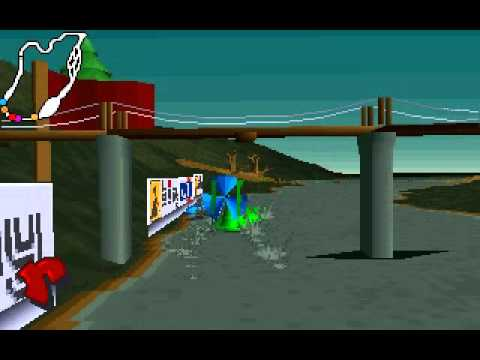 Dos Games: Big Red Racing (USA, Water circuit, Replay)