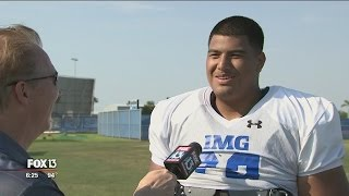 OMG at IMG: Big recruit ready to hit the field