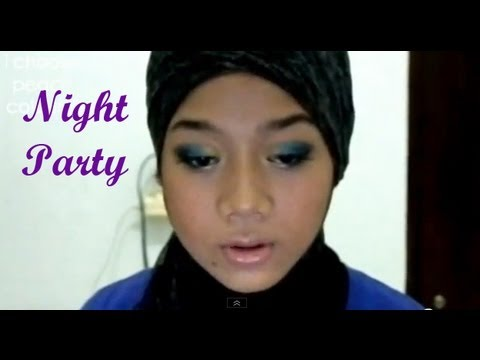 Makeup Tutorial - Night Party [Blue Eye Makeup] - YouTube