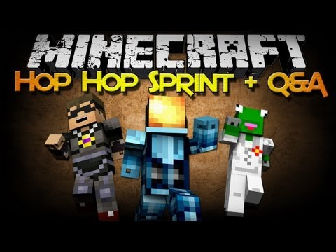 Minecraft: Hop Hop Sprint Map + Q&A w/ Sky and Kermit