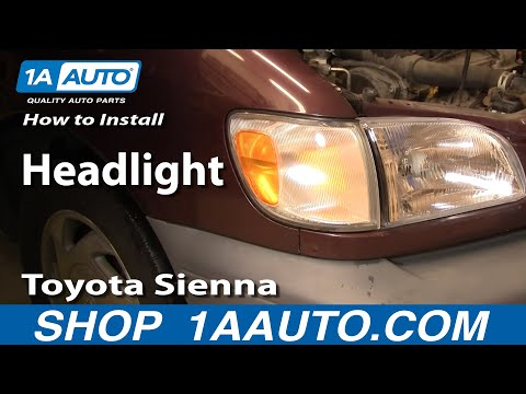 How To Install Replace Headlight Toyota Sienna 98-03 1AAuto.com