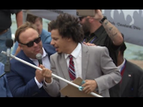 Alex Jones Speech Interrupted By 'Agitator' Eric Andre