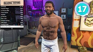 GETTING MY FIRST TATTOOS - Grand Theft Auto 5 - Part 17