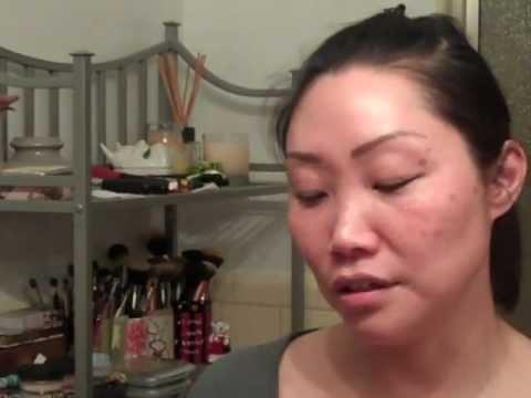 Night Time Skin Care Routine demo, Part 2 - layering moisturizers and retinoid
