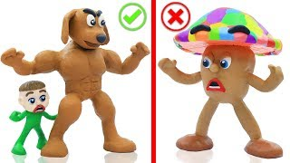 BABY PUPPY DOG COLORS MUSHROOM 💖 Cartoons Play Doh Stop Motion