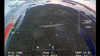 FPV RC midsummer flight outside Uusikaupunki, 2012, 1.32GHz 800mW video link 2.4GHz radio