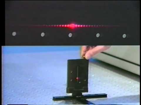 Optics: Fraunhofer diffraction - adjustable slit   MIT Video Demonstrations in Lasers and Optics