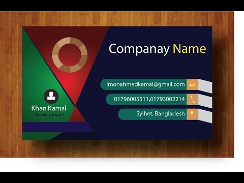 Creative Business card/  Professional business card design in adobe illustratorCS6/Tutorial .
