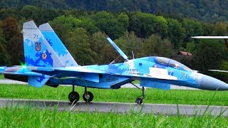 RUSSIAN SU-27UB RC TURBINE SCALE JET IN ACTION AWESOME MANEUVERABILITY
