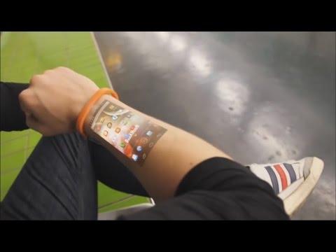Браслет, превращающий руку в сенсорный дисплей
