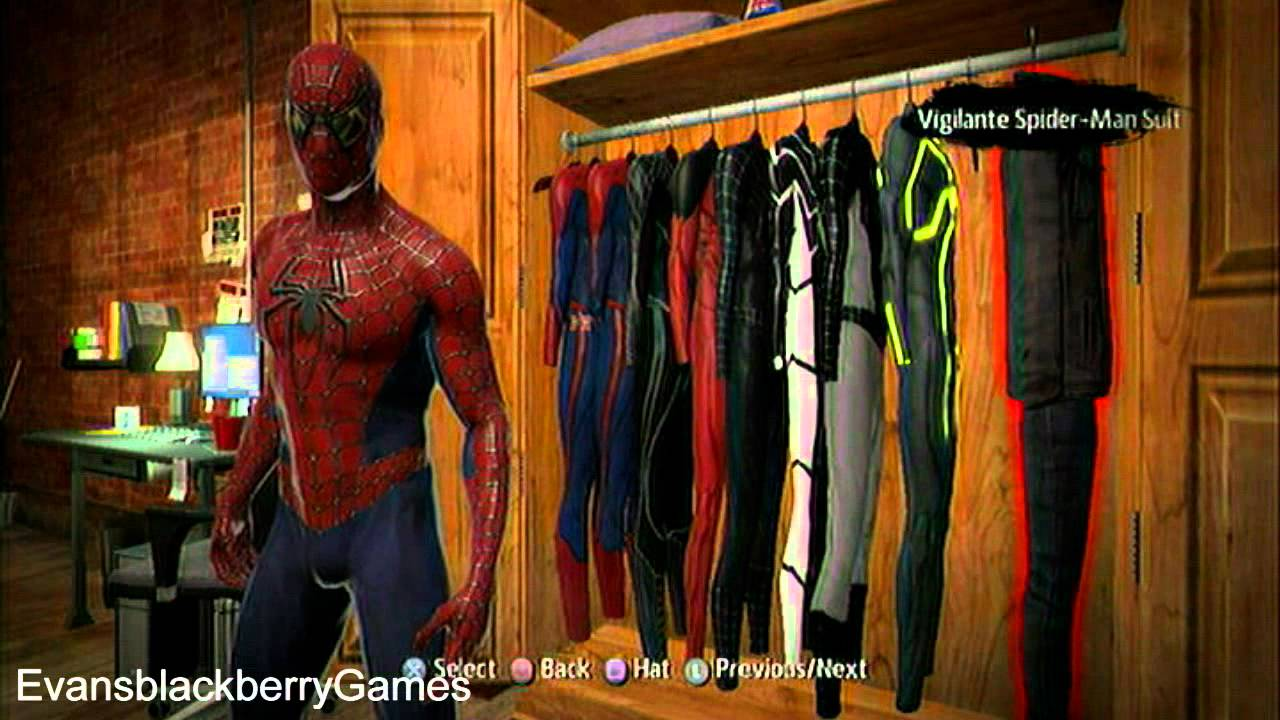 The Amazing Spider-Man Game ALL Costumes (PS3) - YouTube