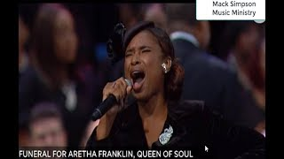 Jennifer Hudson Sings For Aretha Franklin's Funeral.
