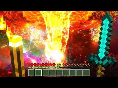 REALISTIC LAVA TORNADO IN MINECRAFT! (Minecraft Challenges)
