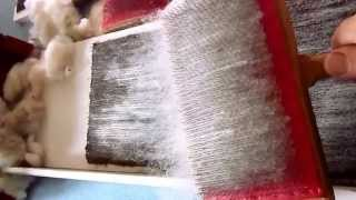How to use and make an inexpensive carding board, next best thing to a drum carder