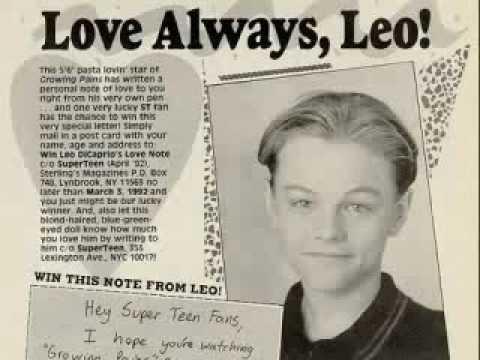 Little/Teen Pics of LEO!! a vid i made of ,ADORABLE pics of Leonardo ...