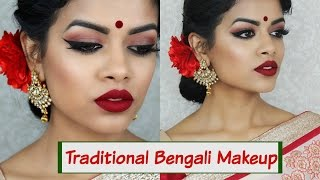 Traditional Bengali Makeup Tutorial |Collab w/ Irene Mahmud Khan