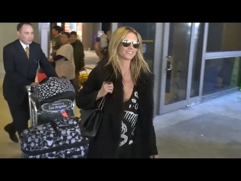 Heidi Klum Is Ecstatic At LAX After Romantic Vacay With Vito Schnabel