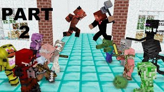 Monster School : GRANNY , GRANDPA & FNAF (The Revenge) - Minecraft Animation