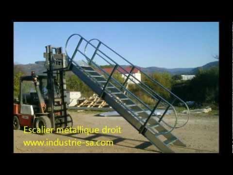 Escalier m tallique droit avec crosse 2012 10 tarif prix franco kit youtube - Escalier metallique prix ...