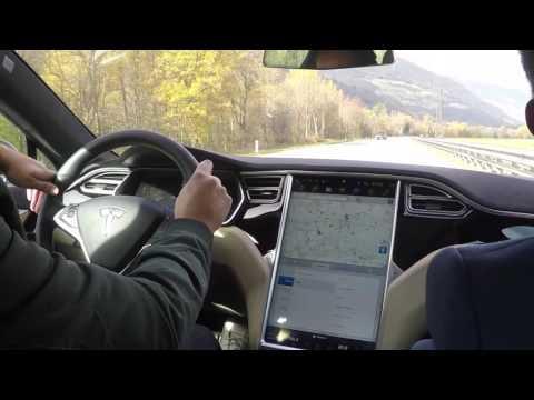 Testfahrt mit dem neuen Tesla Model S