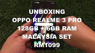 Unboxing Oppo Realme 3 Pro 128GB Lighting Purple Malaysia Set Version Rm1099