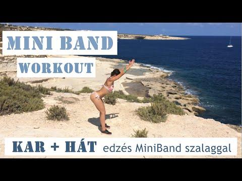 KAR & HÁT edzés MINI BAND szalaggal   MiniBand workout – ARM & BACK home training   FittHalma