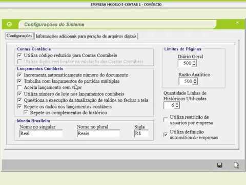 Visão Geral - Sistema de Contabilidade e-Contab