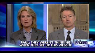 Rand Paul: Young Healthy People Aren't Going to Buy ObamaCare