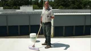 How to apply 501 Elasto-Brite White Roof Coating over asphalt - KARNAK
