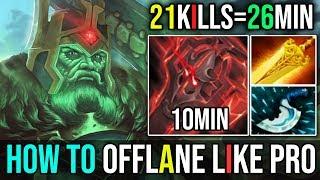 26Min=21Kills [Wraith King] How to Offlane Like a Pro 10Min Blink By Ghostik 7.19 | Dota 2 FullGame